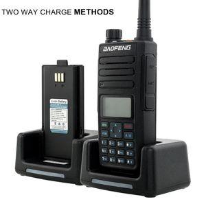 2021 Baofeng DMR DM-1801 Walkie Talkie VHF UHF 136-174 400-470 듀얼 밴드 듀얼 타임 슬롯 티어 12 디지털 라디오 DM1801 Baofeng