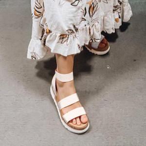 Kadın Platformu Sandalet Kadınlar Peep Toe Yüksek Dihope Topuk Ayak Bileği Tokaları Sandalia Espadrilles Kadın Sandalet Ayakkabı Sparx Sandalet Mavi Ayakkabı B0O3 #