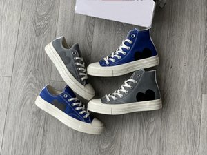 2021 Newest CDG Play x 1970s Canvas Athletic Shoe Classic Campus Joker Shoes Jointly Name chucks 1970 Big Eyes Casual gray blue Training Sneakers Rubber