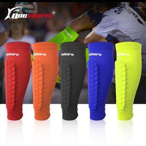 1Pc Adult Teenager Basketball Football Shin Guards Soccer Honeycomb Anti-crash Leg Calf Sleeves Cycling Training Leg Protection1
