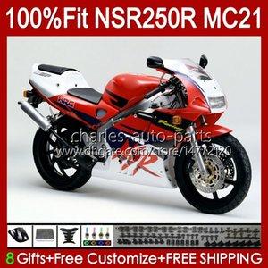 Inyección OEM para HONDA RED GLOSSY MC21 PGM3 NSR250RR NSR250 NSR 250 R 103HC.90 NSR 250R 90 91 92 93 NSR250R 1990 1991 1992 1993 Alquiler