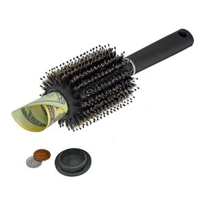 Hair Brush comb Hollow Container Black Stash Safe Diversion Secret Security Hairbrush Hidden Valuable for Home Security Storage box FFA2468A