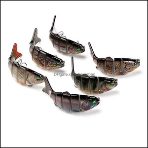 Baits Lures Fishing Sports & Outdoorsmti-Section Fish Road Sub-Bait Set Bionic Fake Bait 6 Sections 9.5Cm Drop Delivery 2021 Sfcyv