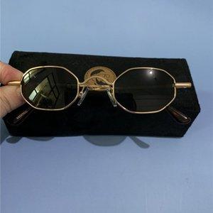 Vazrobe Small Sechseck Sonnenbrille Steampunk Gläser Männer Frauen Schmale Punk Polygon Kinder Vintage Dunkelgrünes Objektiv