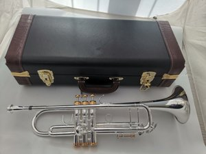 Music Fancier Club Bb Trumpet LT180S-43 Silver Plated Gold Keys Music Instruments Profesional Trumpets LT180S43 Case Mouthpiece