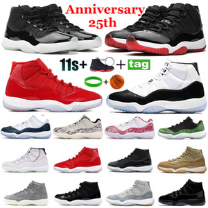Concord 45 High Gamma Blue 11s Uomo Scarpe da pallacanestro Low Green Pink Snakeskin Light Bone Bred Athletic Sneakers Donna Sport Sneakers