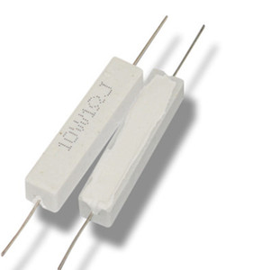 Freeshipping 10W3RJ ceramic cement resistors cement resistance 10W3 lead 10 watts 3 ohm load resistor 5PCS LOT