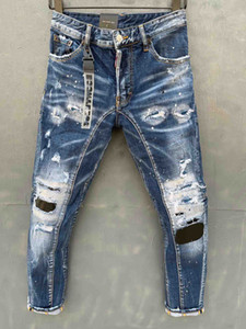 20SS Mens Designer Jeans 2019 Primavera Preto Rasgado Buracos Antigos Designer Jean Pants Bolsos Hommes Pantalones
