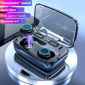 헤드폰 이어폰 True 무선 이어 버드 블루투스 터치 컨트롤 충전 케이스 IPX8 방수 TWS 스테레오 귀 - 귀