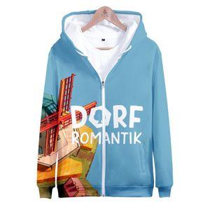 Men's Hoodies & Sweatshirts Fashion Cool Dorfromantik 3D Prints Zipper Women Men Long Sleeve Sweatshirt Streetwear Clothes Kawaii Tops