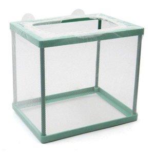 Caja aislamiento nailon acuario, accesorios plstico cra de peces, pecera, incubadora para incubar
