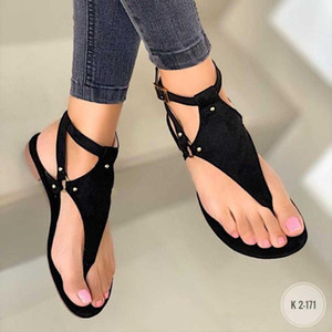 Summer Shoes Woman Sandals Flat Sandalias Mujer Gladiator Beach Sandals Lady Flip Flops Slides Plus Size 42 43 Low Heels Slipper