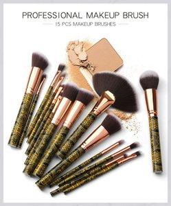 15 professional black gold makeup brush beauty tools