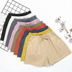 Women's Shorts Summer Womens Loose Casual Solid Color Sport Ladies High Waist Wide Leg Beach Jogging Sweatpants