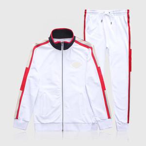 Hommes Designers Sweats Sweats Sweats Sweat Sweatchsuit Hommes Sweat Cuisson Patchwork Black Solid Couleur 2021 Automne Hiver 2pcs Sports à capuche