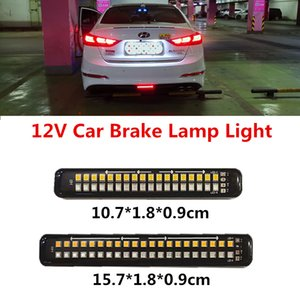 F1 Style DRL Red 12 LED Rear Tail Stop Fog Light strip Brake Light Stop Safety Lamp Car Motor Free Ship LED Rear Tail Ligth