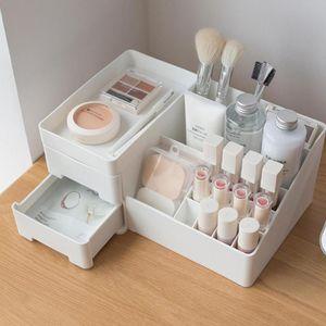 Bathroom Storage & Organization HobbyLane Large Capacity Drawer Cosmetic Box For Makeup Organizer Desktop Finishing Plastic Rack