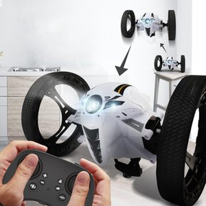 TAW RC Bounce Stunt Car Toy, 60cm Bounce Height, 720P Camera WIFI FPV, Upright Walking, 360° Spin, Music& Lights, Kid Birthday Gift, 4-1