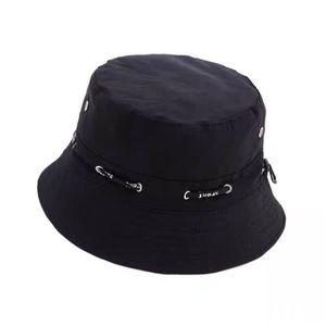 Cap Travel Fisherman Leisure Bucket Hats Solid Color Fashion Men Women Flat Top Wide Brim Cap For Outdoor Sports cap