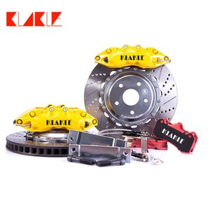 KLAKLE Brake Kit Brakes System 9040 Blank Logo Yellow Cars Calipers 355*32MM J Hook Car Disc For Bmw E46 Year 2002 Front Rim 18