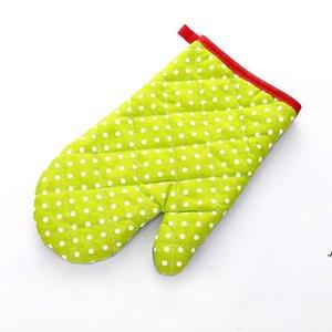 Gant à four à four à four micro-ondes Gants résistant à la chaleur résistant à la chaleur coloré Glove de chaleur coloré Gants de cuisson de cuisson
