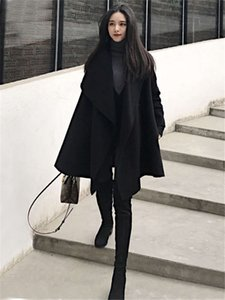 Cloaks, windbreaker, women's middle length, autumn and winter 2021, fashionable, small temperament, woolen coat