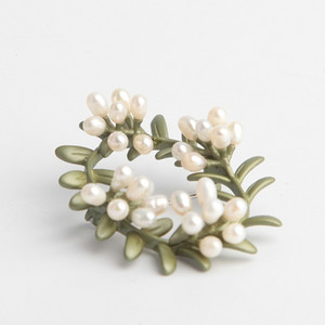 Plant kingdom Myrtle wreath female Brooch accessories decoration creative simple versatile