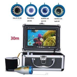 Fish Finder PDDHKK 7'' TFT Monitor 1000 TVL Underwater Night Vision 15pcs White LEDs + Infrared Lamp Ice Fishing Camera