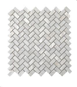 2021 Natural super white pearl shell mosaic kitchen tile herringbone arrangement bathroom background wall Tiles