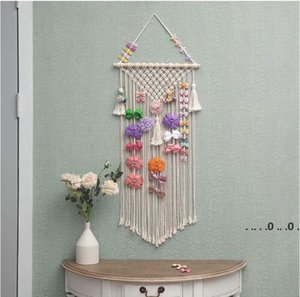 Baby Hair Storage Beairs Cliplt Hair Bow Holder Hanger Girls Storage Organizer Hairwear Belt Tapestries Accessories sea ship EWB5196