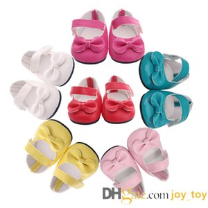 18 inch doll PU Leather BowShoes for 18 Inch America Girl Funny Girl Boy Doll Accessories