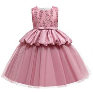 Girls Dresses Embroider Kids Dress Lace Tutu Formal Dresses Pettiskirt Party Dress Teenage Girls Clothes Pageant Dresses 3-10Y B3850