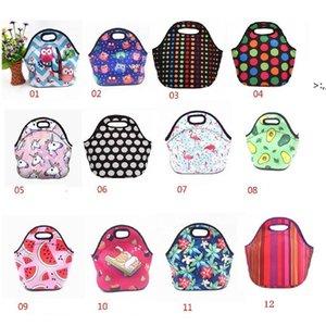 Neoprene Lunch Bag For Women Lunch Bags Picnic Handbag With Tableware Pocket Children Snacks for Women Kids OWD10365