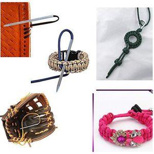 9PCS Stainless steel Paracord needle Paracord bracelet knitting needle DIY jewelry accessories bracelet leveler