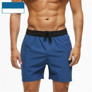 Mens Elasticity Beach Shorts Fashion Trend Solid Colors Drawstring Swimming Pants Summer Male New Pocket Zipper Sports Casual Short Pants