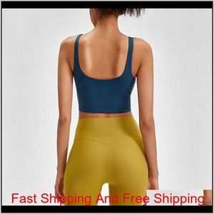 L-89 Tank Women Yoga Bra Shirts Sports Vest Fitness Tops Sexy Underwear Solid Color Lady Tops With Removable qylaVz my_home2010