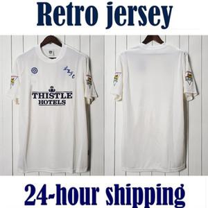 9596 Leeds Home Retro United 1995 1996 Branco Camisetas de Fútbol Jersey Camisa de Futebol Vintage Camiseta