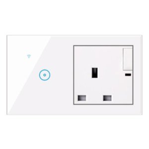 UK Socket 1 2 3 Gang Smart Wifi Switch Wifi Touch Switch Remote Control Work With Google Home Amazon Alexa UK Standard Socket