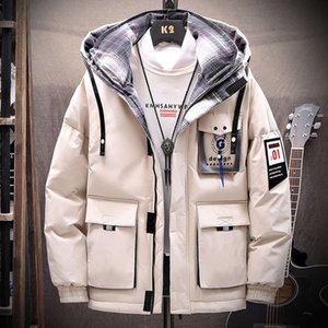 Winter new men's Korean version thickened cotton padded jacket trend tooling jacket cool winter down cotton padded jacket tide brand cotton