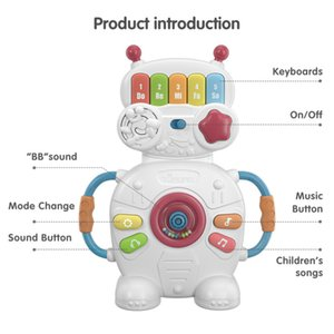 Tumama Cute Educational Baby Toys Keyboards Eletronic Robot Musical Piano Toy For Kids
