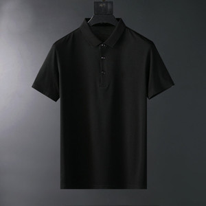 New Hot Fashion Mens Solid Polos High Street Casual Short Sleeve Designer Polo Shirts Men Polos Casual Mens Summer T Shirts