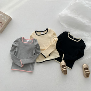 DDS INS Quality Summer New Kids Girls Tshirt Long Sleeve Pure Cotton Tees Spring Children Boutique Cloths Cute Girls T-shirts