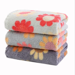 Handkerchie Fcoral Fleece Kerchief Soft Absorbent Household Square Dishcloth Dish Super Hand Towels Wipe Table Towel Kitchen Tools GWC6481