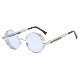 Abay Klasik Yuvarlak erkek Güneş Gözlüğü Avrupa Amerikan Kişilik Güneş Gözlükleri Erkekler ve Kadınlar için Abay Steampunk All-Match Oculos