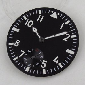 Repair Tools & Kits High Quality 38.9mm Black Sterile Dial White Marks Fit For Eta 6498 St3600 Movement+luminous Watch Hand