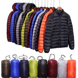 2021 зимняя куртка мужчины Parkas белый утка вниз пальто мужчина держит теплое облегченную бычную ветровку плюс размер m-6xl