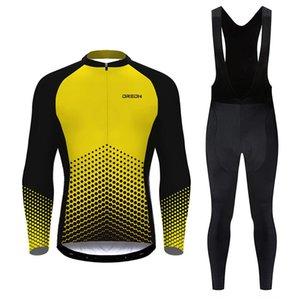 Jersey de ciclismo de ORONS Jersey de ciclismo de manga larga cómoda transpirable transpiración carretera bicicleta de montaña