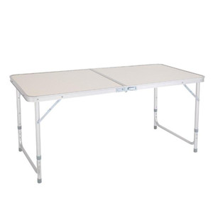 Портативный многофункциональный складной стол в белый для кемпинга для кемпинга Крытый дом Использование таблицы Переместить пикник стол 4ft 48 дюймов YHM317