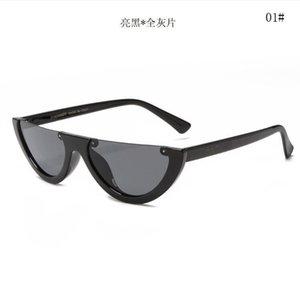 2019 Мода Бренд Дизайнер Солнцезащитные Очки Cat Eye Большой Рамка Простой Классический Женский Стиль УВ400 Защита Очки на открытом воздухе 191