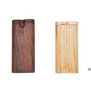 Wooden Cigarette Case Outdoor Portable Walnut Tobacco Storage Box Household Smoking Accessories HWF9128